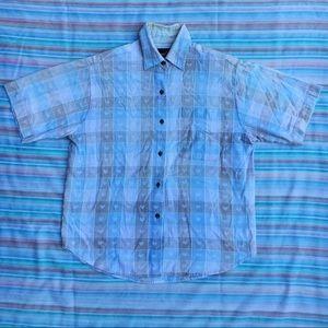 Vintage Heart & Checker Button Up Shirt